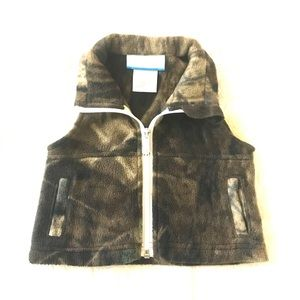 🔴 Columbia Camouflage Fleece Vest for Infants